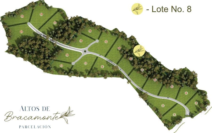 Mapa Lote 8 Altos de Bracamonte