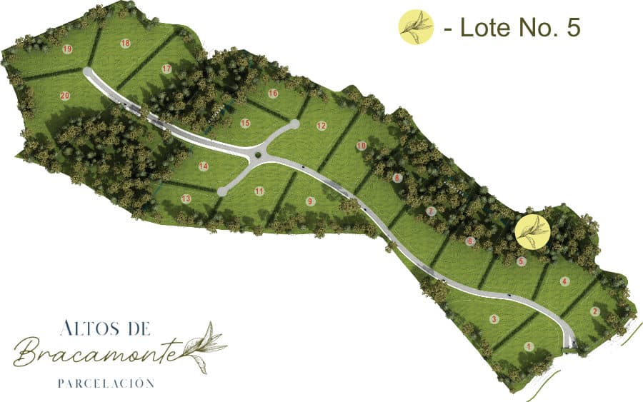 Mapa Lote 5 Altos de Bracamonte