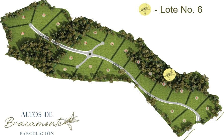 Mapa Lote 6 Altos de Bracamonte