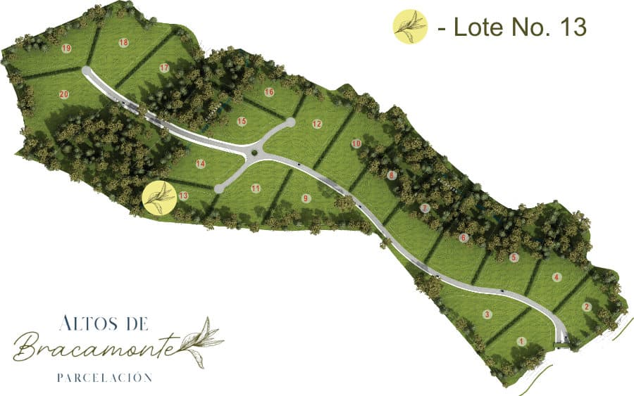 Mapa Lote 13 Altos de Bracamonte