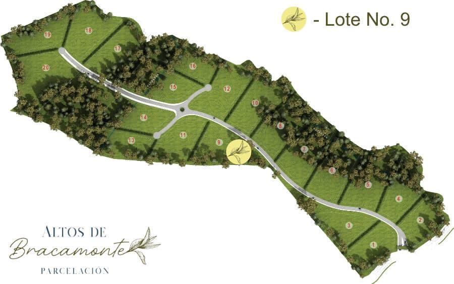 Mapa Lote 9 Altos de Bracamonte